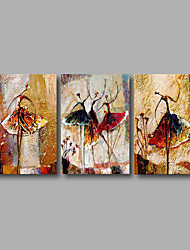 cheap -Stretched (Ready to hang) Hand-Painted Oil Painting Canvas Wall Art Modern Abstract Dance Girls Figure