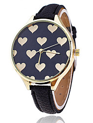 cheap -Women/Lady's Full Heart Case Thin Leather Band Analog Quartz Fashion Dress Casual Watch Strap Watch