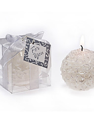 Bridesmaids / Bachelorette - Rose Ball  Candle Home Décor Wedding Favors 5.3 x 5.3 x 5.3 cm/box