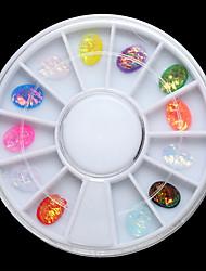 cheap -1PC 6cm In a Box  6*8mm  The Ellipse Dazzle Colour Glass Resin  Gem Diamond 12 Color Conventional