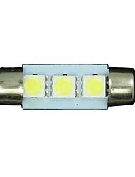 preiswerte -10x weiß 36mm 3 5050 SMD Girlande-Karte Innenraum LED-Licht-Lampe DE3175 3022 12v