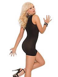 Women Babydoll & Slips Nightwear,Sexy Solid-Thin Spandex Black