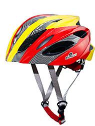 Недорогие -Взрослые Мотоциклетный шлем 18 Вентиляционные клапаны Ударопрочный прибыль на акцию, ПК Виды спорта Велосипедный спорт / Велоспорт - Красный / черным / Небесно-голубой / Красный / желтый