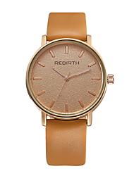 levne -REBIRTH Pánské Křemenný Náramkové hodinky / Hodinky na běžné nošení PU Kapela Na běžné nošení Minimalistické Módní Černá Bílá Orange Khaki