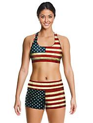 Per donna Reggiseni sportivi Pantaloncini da corsa Asciugatura rapida Traspirante Set di vestiti per Yoga Esercizi di fitness Corsa