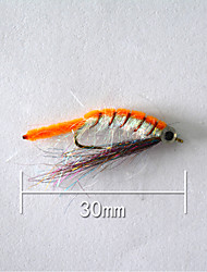 "1pcs Hard Bait Orange 5 g/1/6 oz. Ounce,30 mm/1"" inch,Soft Plastic Bait Casting"