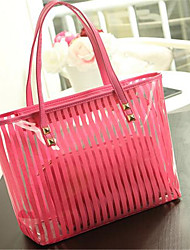 Women Shoulder Bag PVC Casual Outdoor Red Blue Blushing Pink