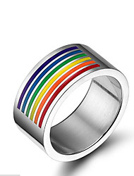billige -Herre Band Ring - Titanium Stål Personaliseret, Europæisk 6 / 7 / 8 Sølv Til Afslappet