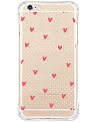 Pattern Pink Heart Soft Shockproof Back Cover Case Foundas For Apple iPhone 6s Plus/6 Plus/iPhone 6s/6/iPhone SE/5s/5