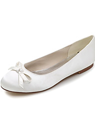 cheap -Women's Shoes Satin Spring / Summer Flats Flat Heel Bowknot Blue / Champagne / Ivory / Wedding / Party & Evening