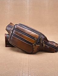 preiswerte -Herrn Taschen Leder / Kunstleder Hüfttasche Reißverschluss für Normal Kaffee
