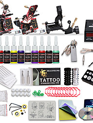professionelle Tattoo-Set 3 Top-Maschinen 10 Farbtinten