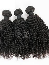 Недорогие -Малазийские волосы Классика Кудрявое плетение Афро Кудрявый вьющиеся Ткет человеческих волос 3 предмета Высокое качество 0.3 Повседневные