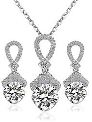 Недорогие -Женский Свадебные комплекты ювелирных изделий Свадьба Для вечеринок Сплав Серьги Ожерелья