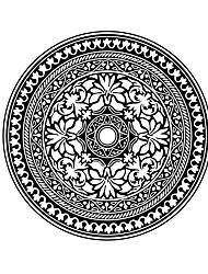 billige -Blomster Wall Stickers Fly vægklistermærker Dekorative Mur Klistermærker,Vinyl Materiale Kan fjernes / Kan genpositioneres Hjem Dekoration