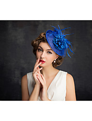 Tulle Flax Feather Net Fascinators Headpiece Classical Feminine Style
