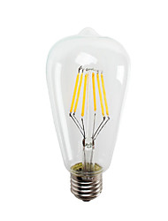 cheap -ST64 6W E27 550LM LED Vintage LED Edison Bulbs Energy Saving 6W LED- 60W Equivalent(AC220-240V)