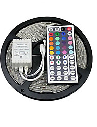 cheap -Light Sets 150 LEDs RGB Remote Control / RC Cuttable Color-Changing Self-adhesive Linkable DC 12V