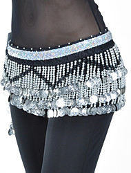 cheap -Belly Dance Belt Women's Polyester Beading Coin