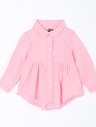 cheap -Baby Girls' Daily Solid Blouse, Cotton Fall Fuchsia