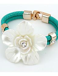 Hot Fashion Big Resin Flower Bracelet Elegant Rhinestone Snake Chain Bracelets For Women Gift