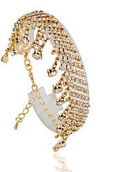 economico -Bracciali Bracciali tennis Lega Circolare Di tendenza Matrimonio Gioielli Regalo Oro / Argento,1 pezzo