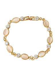 Bracelet Chain Bracelet Alloy / Resin Oval Fashion Jewelry Gift Gold / White,1pc