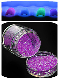 1 Bottle Nail Art Beautiful Noctilucent Powder Colorful Glitter Nail Beauty Decoration YG01-06 Random Delivery