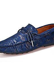 povoljno -Muškarci Cipele Brušena koža Proljeće Ljeto Mokasine Udobne cipele Natikače i mokasinke Hodanje za Kauzalni Braon Crvena Plava