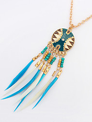 cheap -Women's Pendant Necklace  -  Tassel Vintage Party Coffee Blue Rainbow Necklace For Party Daily Casual