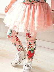 Mädchen Hose / Leggings-Lässig/Alltäglich Blumen Baumwolle Frühling / Herbst Rosa