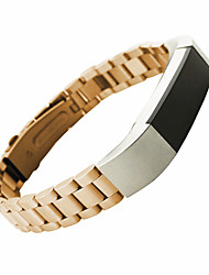 abordables -Noir / Doré / Argenté Style Moderne / Métallique Bracelet Sport / Boucle Moderne Pour Fitbit Regarder 10mm