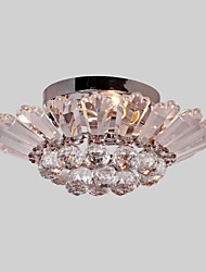 cheap -Modern/Contemporary Crystal Flush Mount Ambient Light For Living Room Bedroom Dining Room 110-120V 220-240V Bulb Not Included