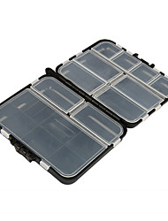 cheap -Fishing Tackle Boxes Tackle Box Waterproof Multifunction 1 Tray Plastic Metal 3 12
