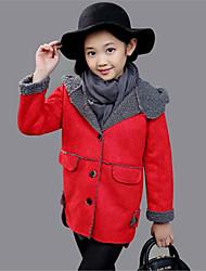お買い得  -女の子 日常 ソリッド コットン ダウン&コットンキルティング 冬 長袖 ドレスウェア パープル レッド ピンク