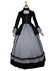 cheap -Victorian Rococo Costume Women's Party Costume Masquerade Vintage Cosplay Lace Linen Satin Long Sleeves