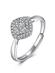 cheap -Fine Sterling Silver Diamond Statement Ring for Women Wedding Party