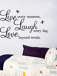 cheap -Live Laugh Love English Word Wall Stickers Fashion DIY Living Room Wall Decals