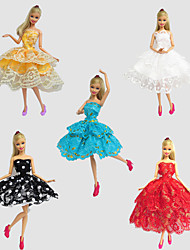 Party/Evening Dresses For Barbie Doll Dresses For Girl's Doll Toy