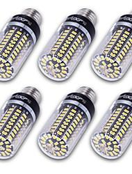 Недорогие -YouOKLight 6шт 10W 800-850lm E14 E26 / E27 E12 LED лампы типа Корн T 100 Светодиодные бусины SMD 5736 Декоративная Тёплый белый Холодный