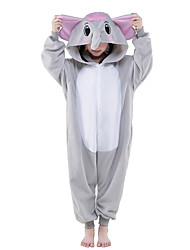Kigurumi Pajamas New Cosplay® Elephant Leotard/Onesie Festival/Holiday Animal Sleepwear Halloween Gray Solid Polar Fleece Kigurumi For Kid