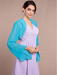 Long Sleeves Chiffon Wedding Party Evening Women's Wrap With Scales Shrugs
