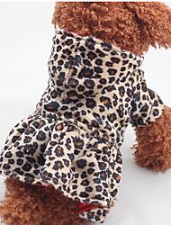 Katzen / Hunde Kostüme / Kleider / Austattungen Braun Hundekleidung Winter / Frühling/Herbst Leopard Leopardenmuster / Urlaub