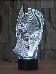 abordables -Deux-face tactile gradation 3d led nuit lumière 7colorful décoration atmosphère lampe nouveauté éclairage lumière