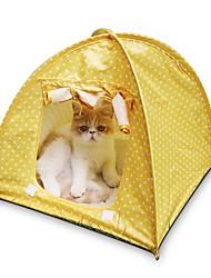 Недорогие -Кошка Кровати Животные Коврики и подушки В горошек Световой тент На каждый день Желтый Зеленый Розовый