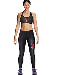 Women's Sport Bra with Running Pants Sleeveless Quick Dry Breathable Compression Leggings Clothing Suits Bottoms for Yoga Exercise &