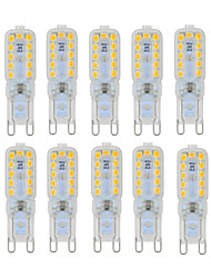 abordables -ywxlight® 6w g9 led luces bi-pin 22 smd 2835 450-550 lm blanco cálido blanco frío regulable ac 220-240 ac 110-130 v 10pcs
