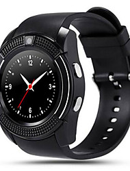 cheap -V8 Smartwatch Bluetooth Answer/Camera Message Media Control/Anti-lost for Android/iOS Smartphone