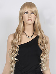 cheap -Synthetic Hair Wigs Wavy Capless Carnival Wig Halloween Wig Natural Wigs Long Blonde