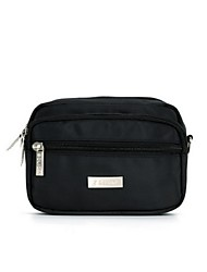 Men Bags Nylon Waist Bag with for Casual Black